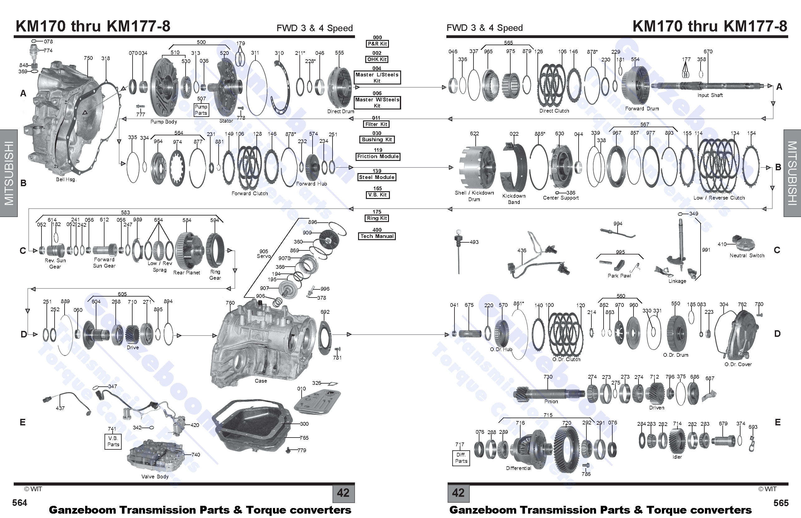 f4a42 hyundai transmission diagram